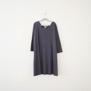 Comfy USA 3/4 Sleeve Modal Jersey Tunic Top Gray
